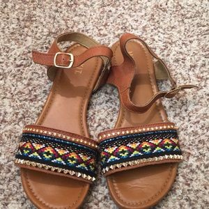 Aztec Ankle Strap Sandals